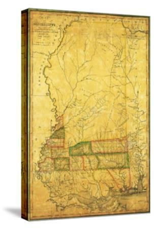 Mississippi - Panoramic Map-Lantern Press-Stretched Canvas Print