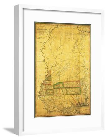Mississippi - Panoramic Map-Lantern Press-Framed Art Print