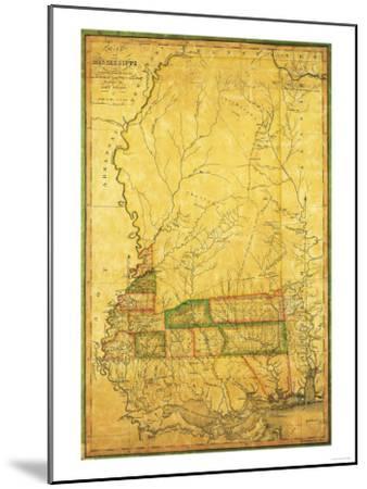 Mississippi - Panoramic Map-Lantern Press-Mounted Art Print
