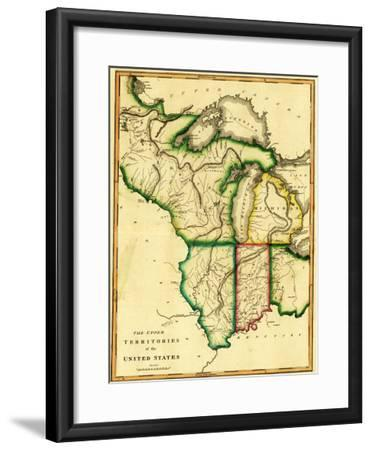 Midwest in the United States - Panoramic Map-Lantern Press-Framed Art Print