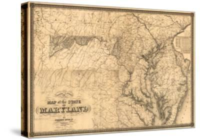 Maryland - Panoramic Map-Lantern Press-Stretched Canvas Print