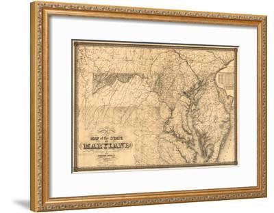Maryland - Panoramic Map-Lantern Press-Framed Art Print