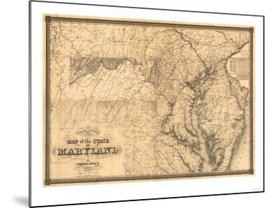 Maryland - Panoramic Map-Lantern Press-Mounted Art Print