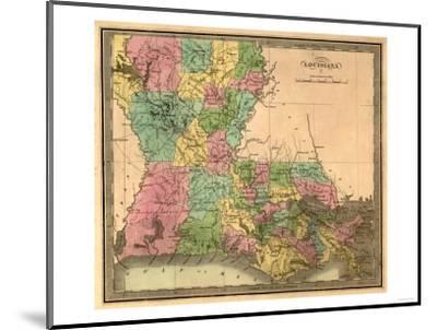 Louisiana - Panoramic Map-Lantern Press-Mounted Art Print