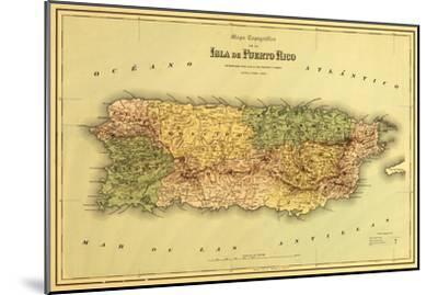 Puerto Rico - Panoramic Map-Lantern Press-Mounted Art Print