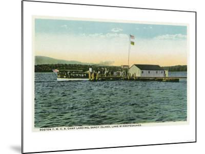 Lake Winnipesaukee, ME - Sandy Island, Boston YMCA Camp Landing View-Lantern Press-Mounted Art Print