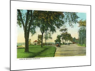 Portland, Maine - Scenic View on the Western Promenade-Lantern Press-Mounted Art Print