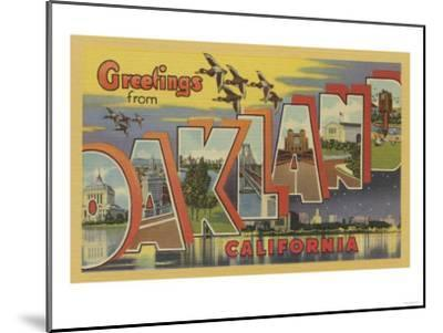 Oakland, California - Large Letter Scenes-Lantern Press-Mounted Art Print