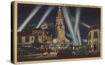 Los Angeles, CA - Fox Carthay Circle Theatre View-Lantern Press-Stretched Canvas Print
