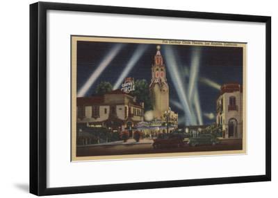 Los Angeles, CA - Fox Carthay Circle Theatre View-Lantern Press-Framed Art Print