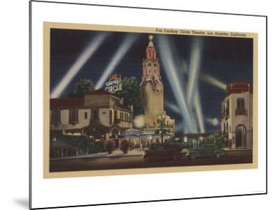 Los Angeles, CA - Fox Carthay Circle Theatre View-Lantern Press-Mounted Art Print