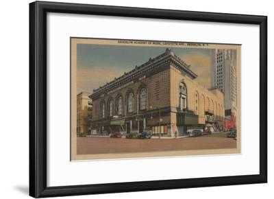 New York, NY - Brooklyn Academy of Music, Lafayette Ave.-Lantern Press-Framed Art Print