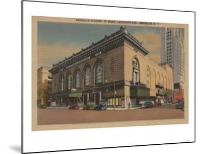 New York, NY - Brooklyn Academy of Music, Lafayette Ave.-Lantern Press-Mounted Art Print