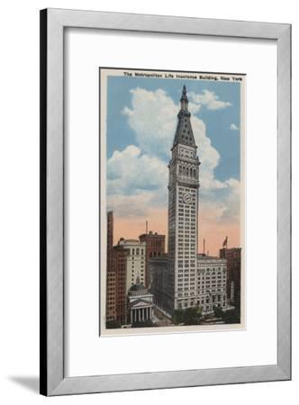 New York, NY - Metropolitan Life Insurance Building-Lantern Press-Framed Art Print