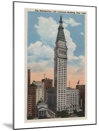 New York, NY - Metropolitan Life Insurance Building-Lantern Press-Mounted Art Print
