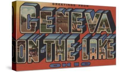 Ohio - Geneva-on-the-Lake-Lantern Press-Stretched Canvas Print