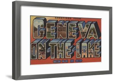 Ohio - Geneva-on-the-Lake-Lantern Press-Framed Art Print