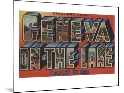 Ohio - Geneva-on-the-Lake-Lantern Press-Mounted Art Print