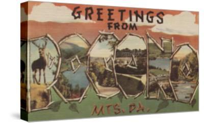 Pennsylvania - Pocono Mountians-Lantern Press-Stretched Canvas Print