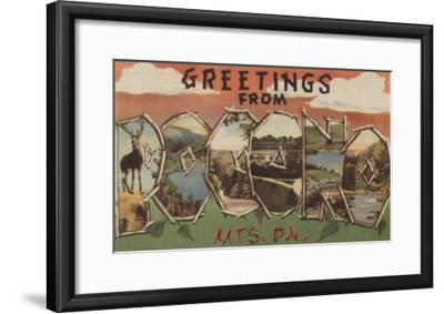 Pennsylvania - Pocono Mountians-Lantern Press-Framed Art Print