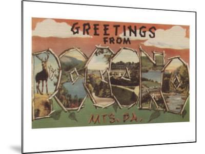 Pennsylvania - Pocono Mountians-Lantern Press-Mounted Art Print