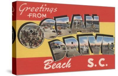 South Carolina - Ocean Drive Beach-Lantern Press-Stretched Canvas Print