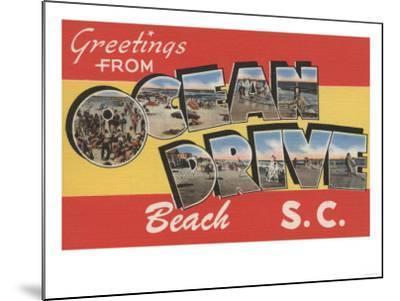 South Carolina - Ocean Drive Beach-Lantern Press-Mounted Art Print