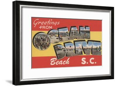 South Carolina - Ocean Drive Beach-Lantern Press-Framed Art Print