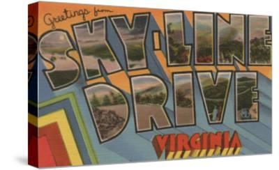 Virginia - Sky-Line Drive-Lantern Press-Stretched Canvas Print
