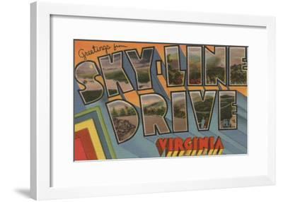 Virginia - Sky-Line Drive-Lantern Press-Framed Art Print