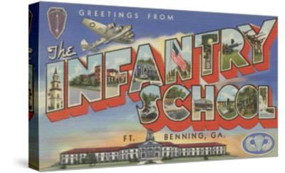 Ft. Benning, Georgia - Infantry School-Lantern Press-Stretched Canvas Print