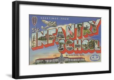 Ft. Benning, Georgia - Infantry School-Lantern Press-Framed Art Print