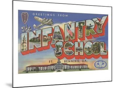 Ft. Benning, Georgia - Infantry School-Lantern Press-Mounted Art Print