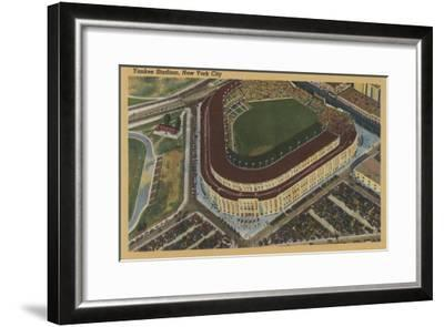 New York, NY - Yankee Stadium from the Air No.1-Lantern Press-Framed Art Print