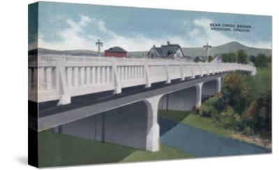 Medford, Oregon - Bear Creek Bridge View-Lantern Press-Stretched Canvas Print