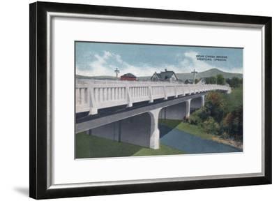 Medford, Oregon - Bear Creek Bridge View-Lantern Press-Framed Art Print