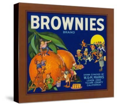 Brownies Brand Citrus Crate Label - Lemon Cove, CA-Lantern Press-Stretched Canvas Print