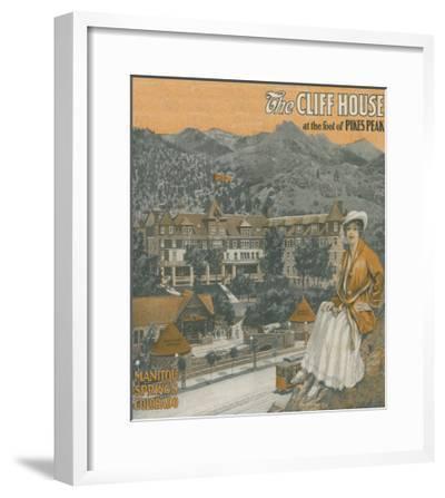 Manitou Springs, Colorado - The Cliff House & Pikes Peak-Lantern Press-Framed Art Print