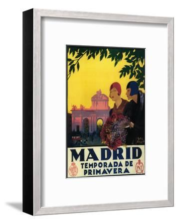 Madrid, Spain - Madrid in Springtime Travel Promotional Poster-Lantern Press-Framed Art Print