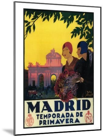 Madrid, Spain - Madrid in Springtime Travel Promotional Poster-Lantern Press-Mounted Art Print