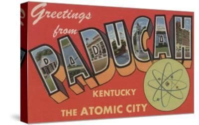 Paducah, Kentucky - The Atomic City-Lantern Press-Stretched Canvas Print