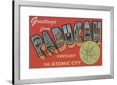 Paducah, Kentucky - The Atomic City-Lantern Press-Framed Art Print