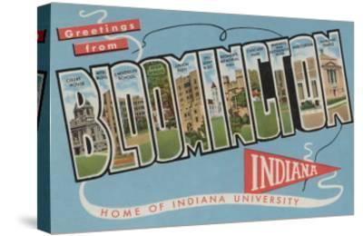 Bloomington, Indiana - Indiana University-Lantern Press-Stretched Canvas Print