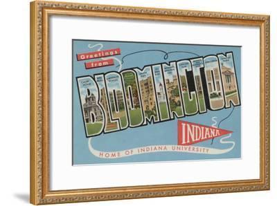 Bloomington, Indiana - Indiana University-Lantern Press-Framed Art Print