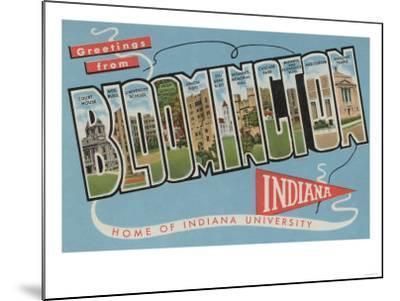 Bloomington, Indiana - Indiana University-Lantern Press-Mounted Art Print