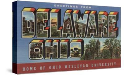 Delaware, Ohio - Wesleyan University-Lantern Press-Stretched Canvas Print