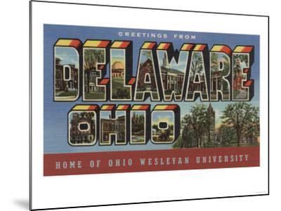 Delaware, Ohio - Wesleyan University-Lantern Press-Mounted Art Print