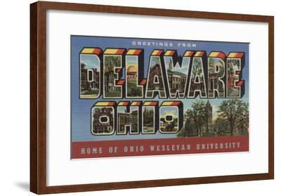 Delaware, Ohio - Wesleyan University-Lantern Press-Framed Art Print