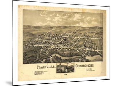 Plainville, Connecticut - Panoramic Map-Lantern Press-Mounted Art Print