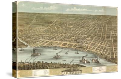 Memphis, Tennessee - Panoramic Map-Lantern Press-Stretched Canvas Print